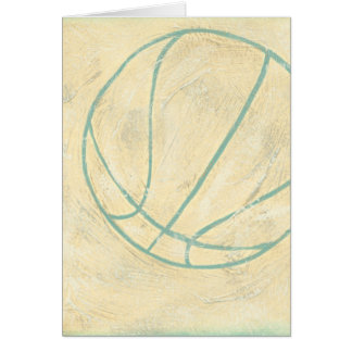 Blue Basketball by Chariklia Zarris Card