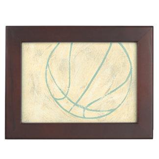 Blue Basketball by Chariklia Zarris Keepsake Box