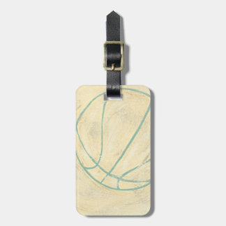 Blue Basketball by Chariklia Zarris Luggage Tag