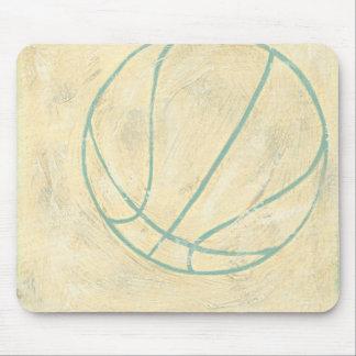 Blue Basketball by Chariklia Zarris Mouse Mat