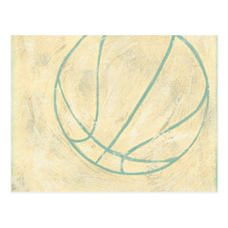 Blue Basketball by Chariklia Zarris Postcard