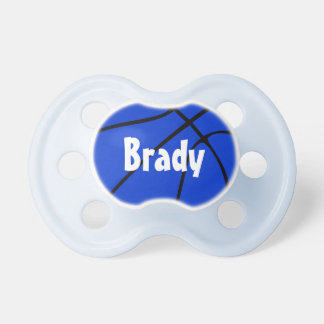 Blue Basketball Custom Baby Name Pacifier