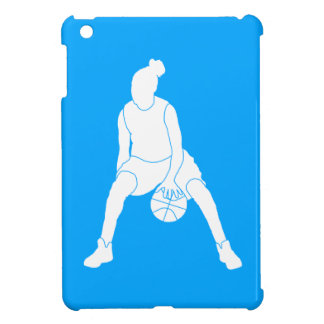 Blue Basketball Girl iPad Mini Case