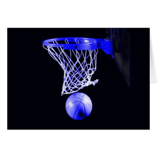 Blue Basketball Greeting Cards