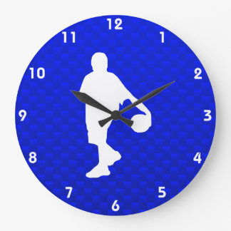 Blue Basketball Large Clock