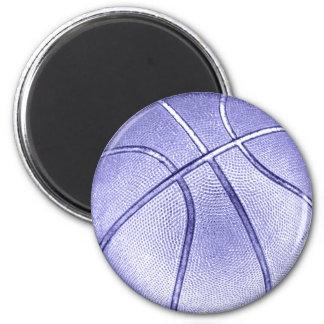 Blue Basketball 6 Cm Round Magnet