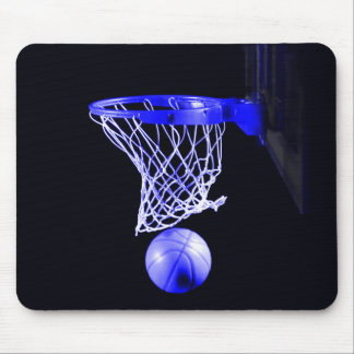 Blue Basketball Mouse Pad