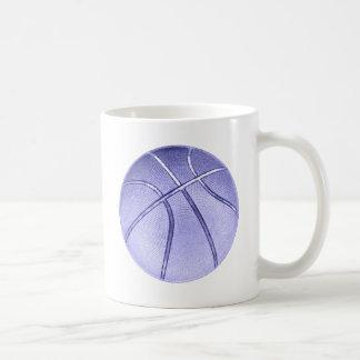 Blue Basketball Basic White Mug