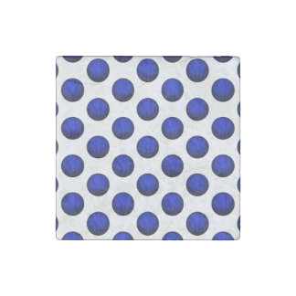 Blue Basketball Pattern Stone Magnet