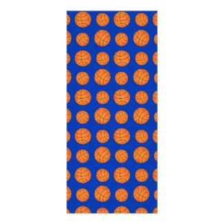 Blue basketball pattern rack card