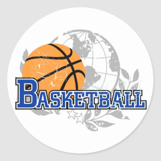 Blue Basketball T-shirts and Gifts Sticker