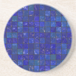 Blue Bathroom Tiles Coaster