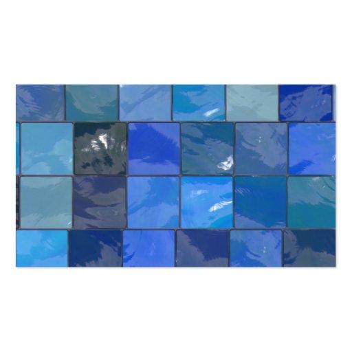 Blue Bathroom Tiles Design Business Cards