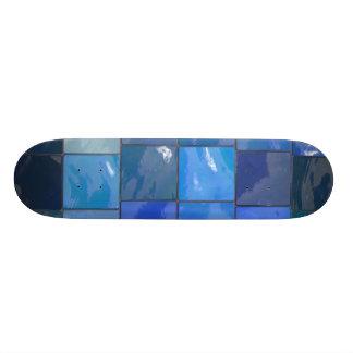 Blue Bathroom Tiles Design Skate Board Deck