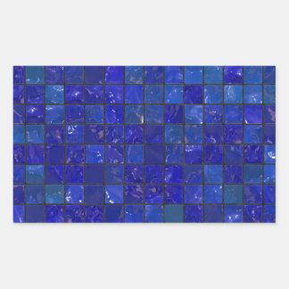 Blue Bathroom Tiles Stickers
