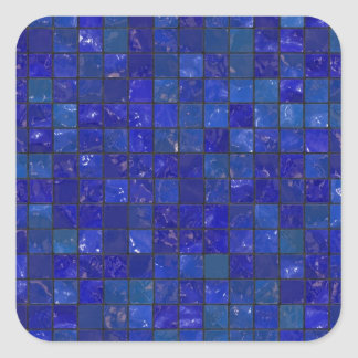 Blue Bathroom Tiles Sticker