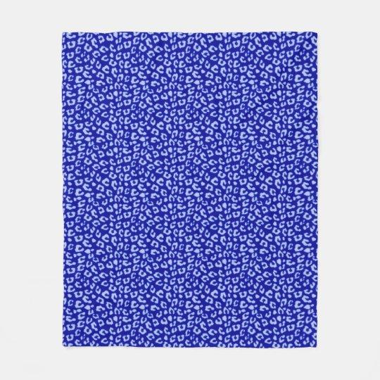 Blue Batik Leopard - fleece blanket