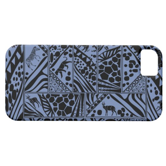 Blue Batik style I phone case