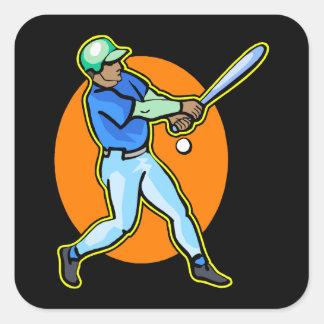 blue batter square sticker