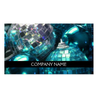 Blue Baubles business card front text black
