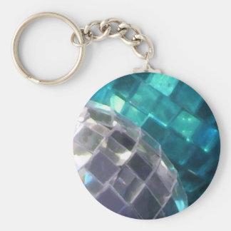 Blue Baubles detail keychain