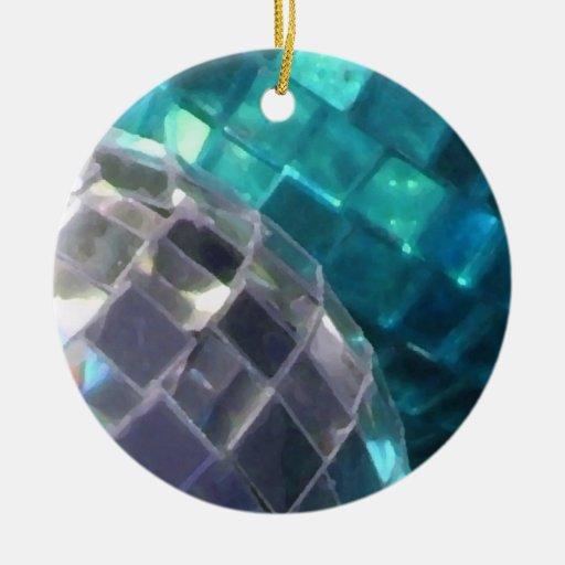 Blue Christmas Ball Ornaments Uk: Blue Baubles Mirror Ball Ornament