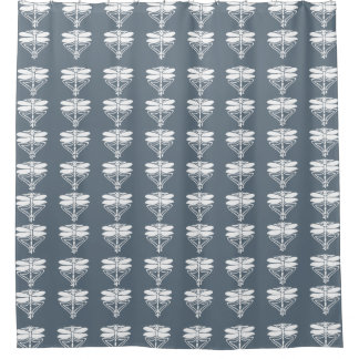 Blue Bayoux Arts and Crafts Dragonflies Shower Curtain