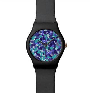 """Blue """"beach glass"""" design watch"""
