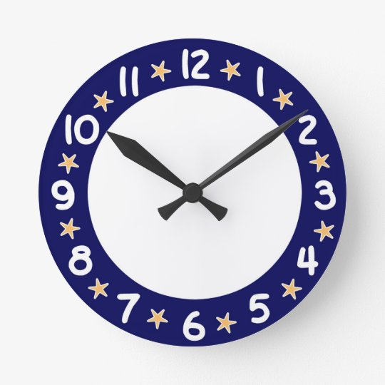 Blue Beach Ocean Starfish Wall Clock