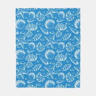Blue Beach Pattern 2 Fleece Blanket