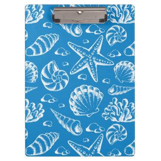 Blue Beach Pattern Clipboard
