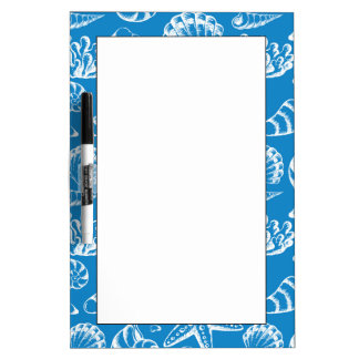 Blue Beach Pattern Dry-Erase Whiteboard