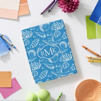 Blue Beach Pattern | Monogram iPad Cover