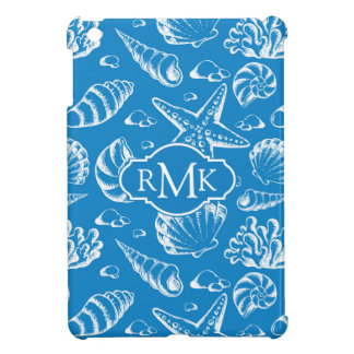 Blue Beach Pattern | Monogram iPad Mini Cases