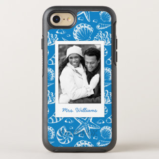 Blue Beach Pattern | Your Photo & Name OtterBox Symmetry iPhone 7 Case
