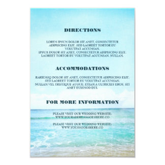 Blue Beach Wedding Details - Information Card