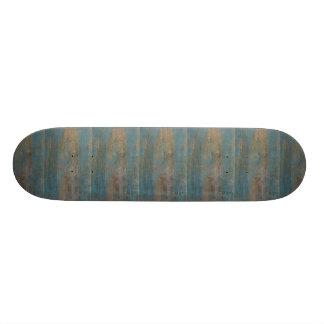 Blue Beach Wood Texture 21.6 Cm Skateboard Deck