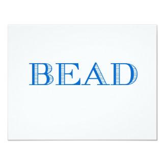 Blue Bead 11 Cm X 14 Cm Invitation Card