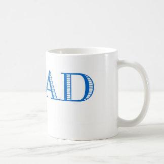 Blue Bead Basic White Mug