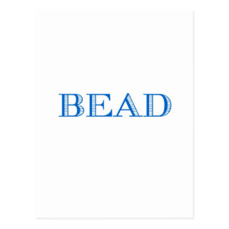 Blue Bead Postcard