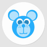 blue bear classic round sticker