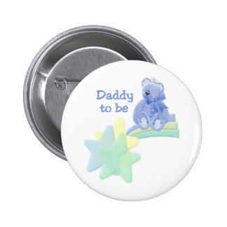 Blue Bear Daddy to Be 6 Cm Round Badge