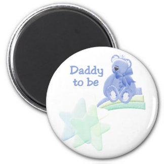 Blue Bear Daddy to Be Fridge Magnets