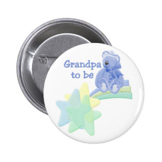 Blue Bear Grandpa to Be Button