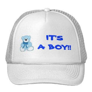 blue bear, IT'SA BOY!! Cap
