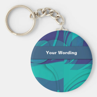 Blue Beauty business cards - customizable Basic Round Button Key Ring