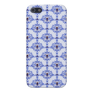 Blue Bee Damask iPhone 5/5S Cover