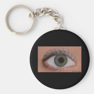 Blue Bee Eye KeyChain
