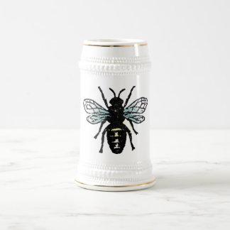 Blue Bee Beer Steins