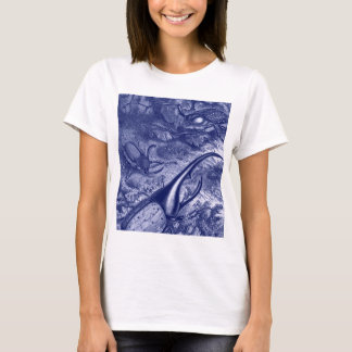 Blue Beetles Vintage Nature Print T-Shirt
